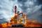 oil, oil rig, crude
