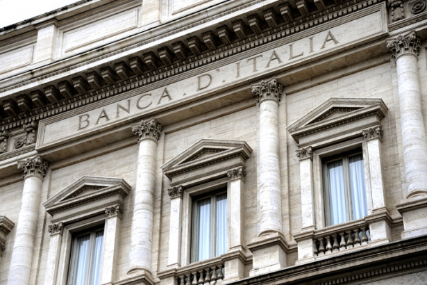 Facade of the Bank of Italy