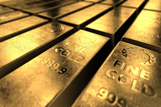 Close-up View Of Shiny Gold Bars