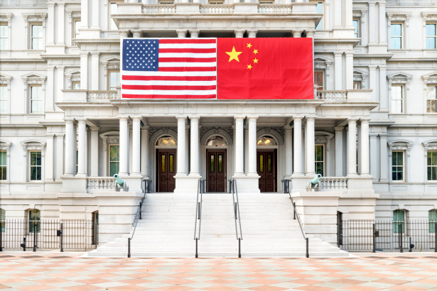 USA/Chinese Flag - Old Exective Office Building, Washington, D.C.