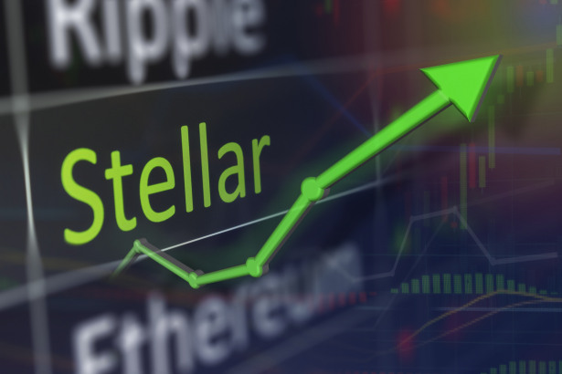 XLM values of stellar and buying crypto currency on the exchange. Copy space.
