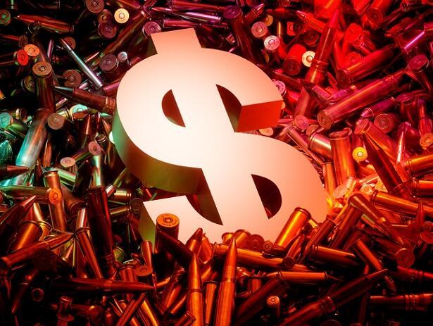 Arms trade business concept.
