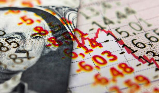 Dollar banknote & market data