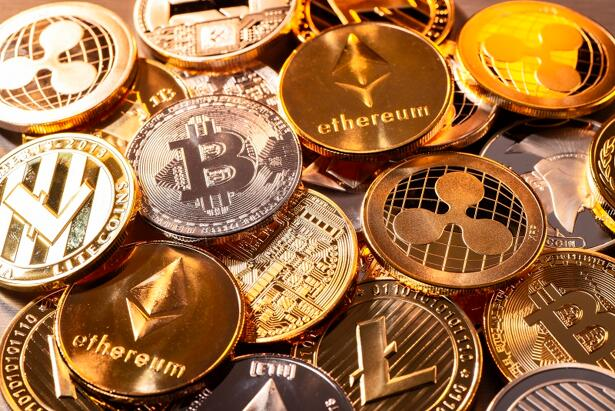 Many coins of various cryptocurrencies