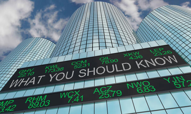 What You Should Know Stock Market Information Ticker 3d Illustration