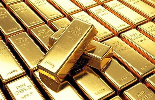 Group of gold bars