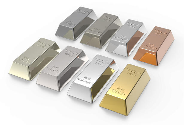 Gold, Silver, Platinum, Palladium