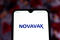 March 31, 2020, Brazil. In this photo illustration Novavax logo is seen displayed on a smartphone.