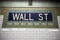 Wall street subway sign tile pattern in New York City Manhattan