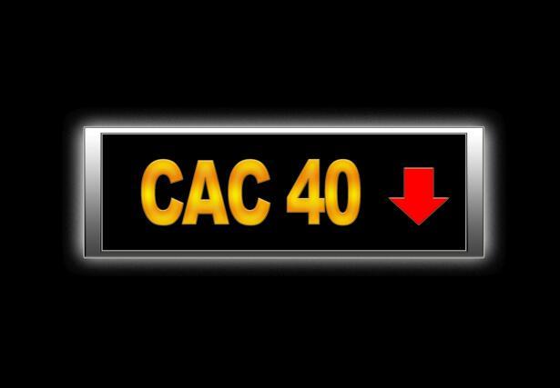 Cac 40 negative.