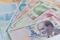 Turkish lira banknotes. money background