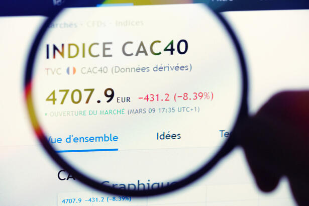 Cac 40 indice in downtrend mode indicates global economy enter recession
