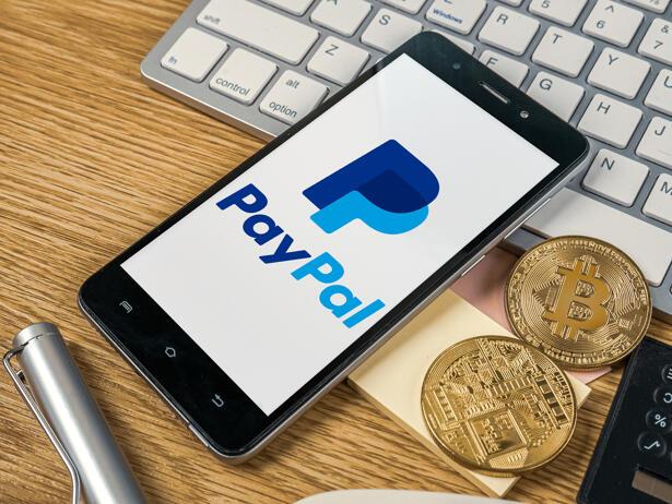 Bangkok, Thailand November 2 2020 PayPal logo on smart phone a