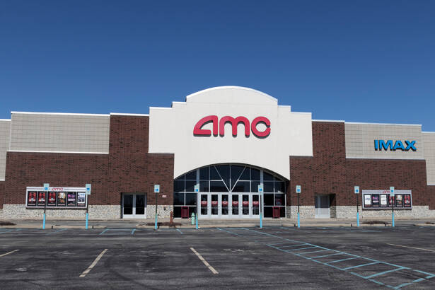 Indianapolis - Circa March 2021: AMC Movie Theater Location. AMC Theaters is having to adjust to the new normal of Social Distancing.