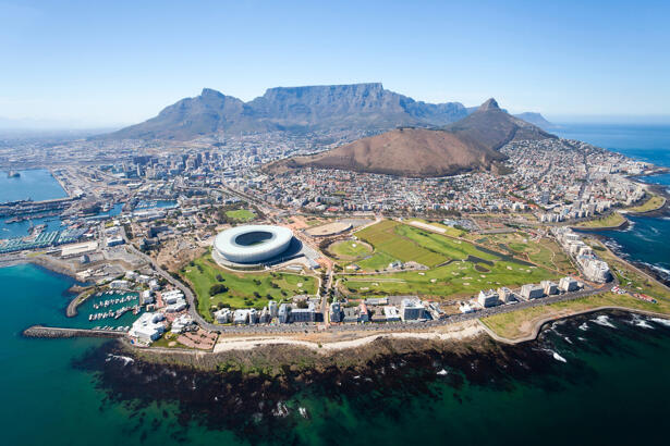 overall aerial view of Cape Town