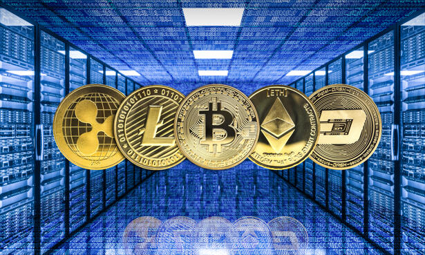 crypto currency mining concept