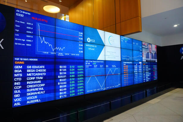 Display of Stock and Currency market quotes on digital LED Board