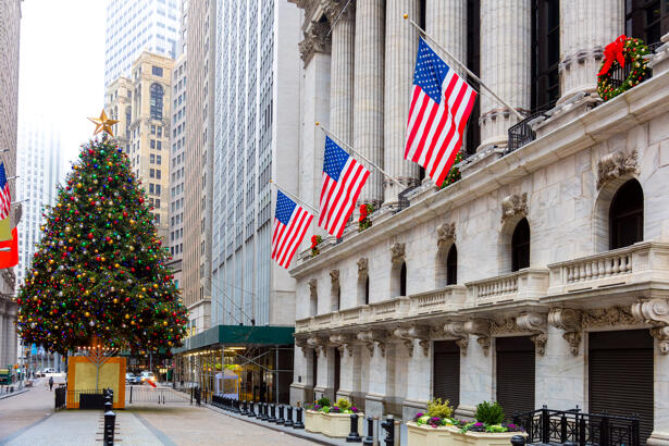 Famous Wall Street in New York City, NYC, USA