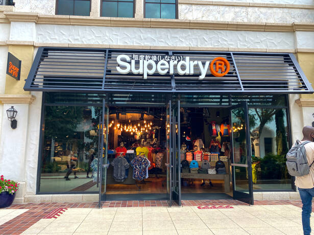 The exterior of the Superdry clothing store in Orlando, FL.