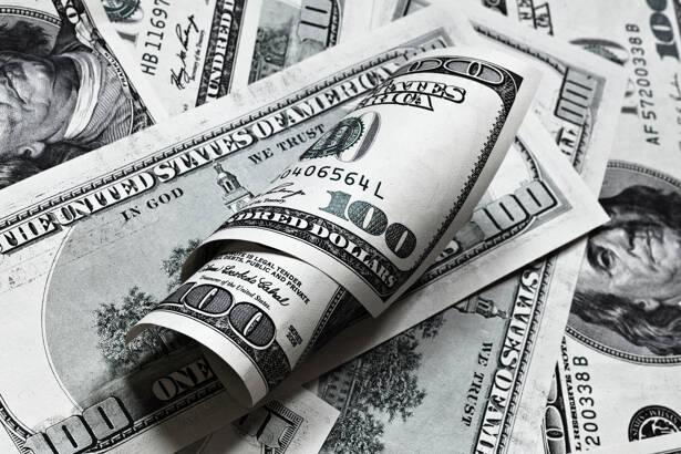 One hundred dollar banknotes pattern background