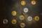 golden bitcoin on