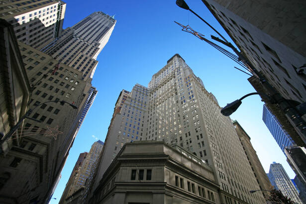 classical New York - Wall street, Stock Exchange and skyscrapers