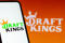September 22, 2021, Brazil. In this photo illustration the DraftKings logo seen displayed on a smartphone