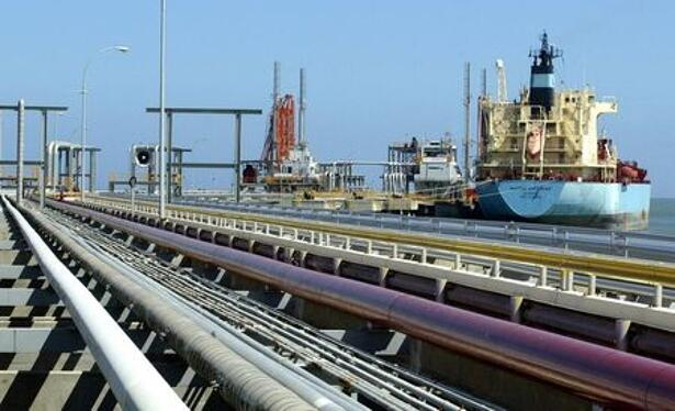 An oil tanker is seen at Jose refinery