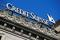 Logo of Swiss bank Credit Suisse is seen