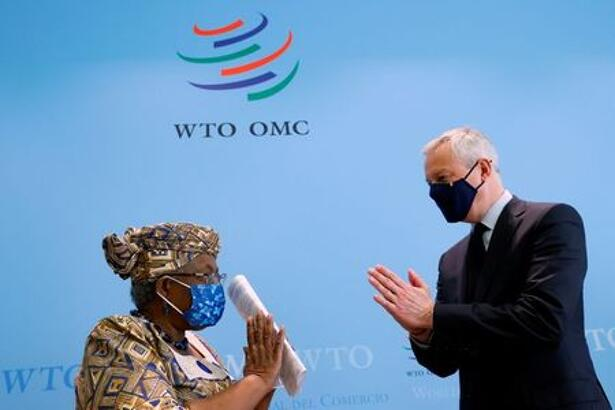 French Finance Minister Le Maire and WTO Director-General Okonjo-Iweala meet