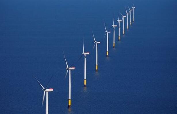 General view of the Walney Extension offshore wind