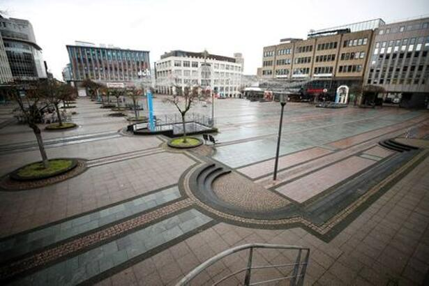 Shops affected by the COVID-19 lockdown in the western German city of Essen