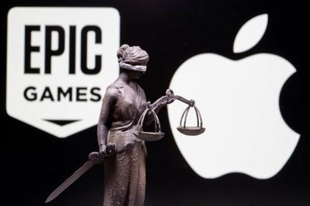3D printed Lady Justice figure is seen in