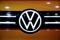 A Volkswagen logo is seen as it launches its ID.6