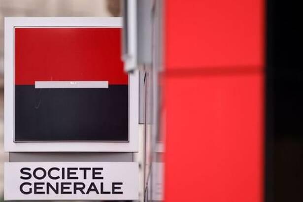The logo of Societe Generale is seen outside a bank