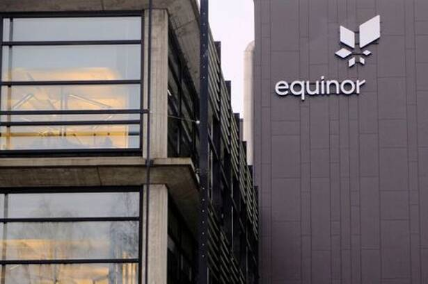Equinor's logo is seen at the company's headquarters