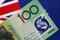 Illustration photo of an Australia dollar note