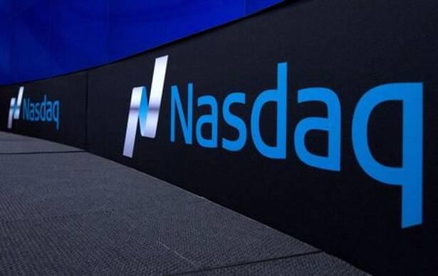 The Nasdaq logo is displayed at the Nasdaq