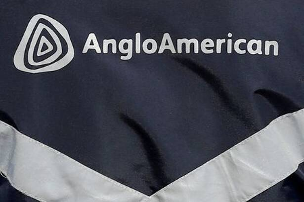 Logo of Anglo American is seen on a
