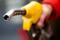 FILE PHOTO: A petrol station attendant prepares to refuel a car in Rome