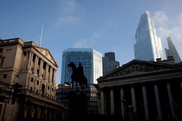 A view of The Bank of England and