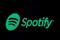 FILE PHOTO: The Spotify logo is displayed on a screen