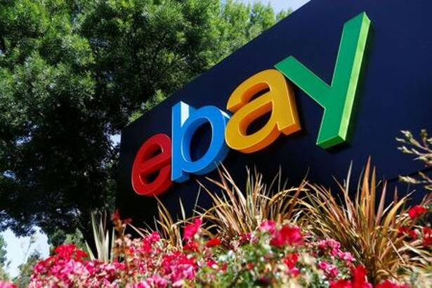 FILE PHOTO: An eBay sign at an office building in