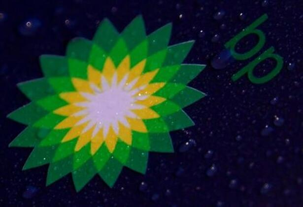 FILE PHOTO: Detail is seen on a BP (British Petroleum)