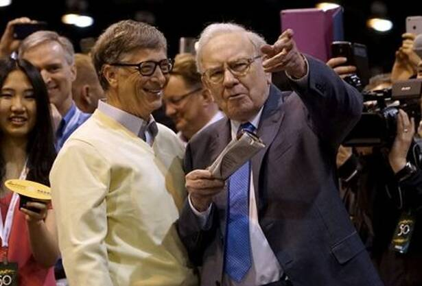 Berkshire Hathaway CEO Warren Buffett shows his friend