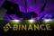 The logo of Binance is seen on their exhibition stand