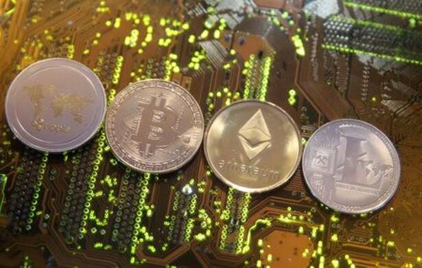 Representations of the Ripple, Bitcoin, Etherum and Litecoin virtual currencies