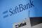 SoftBank Corp's logo is pictured at a news