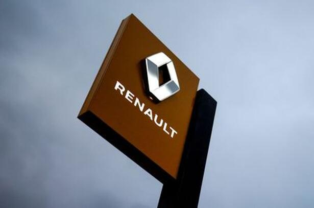 The logo of carmaker Renault is pictured at