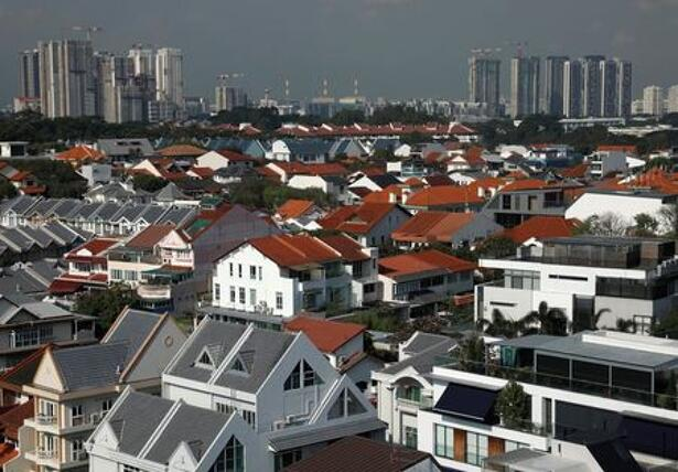View of private residential properties in Singapore